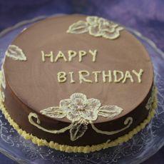 巧克力慕斯刷绣蛋糕的做法