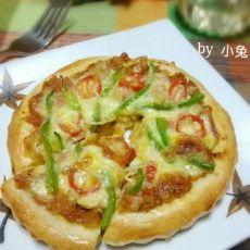 蘑菇火腿番茄披萨