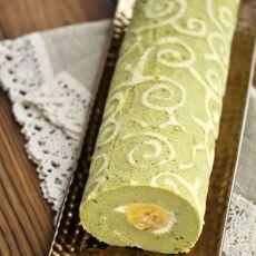 彩绘抹茶香蕉蛋糕卷的做法