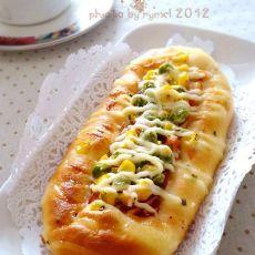 沙拉培根面包的做法