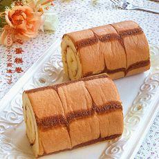 千叶纹菠萝夹心蛋糕卷