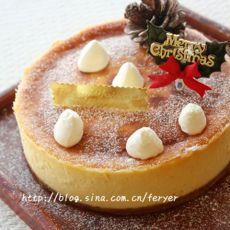 圣诞风格芝士蛋糕