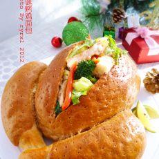 圣诞烤鸡面包的做法
