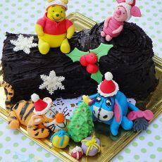 圣诞节维尼树桩蛋糕