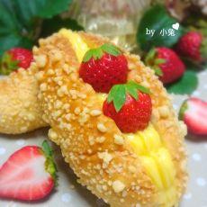 蛋黄酱酥粒面包的做法