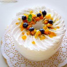 夏日小清新水果奶油蛋糕的做法