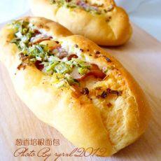 葱香培根面包的做法