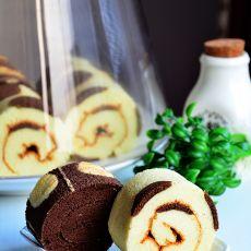波点蛋糕卷的做法