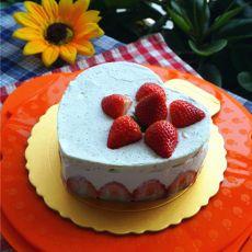 6寸水果慕斯蛋糕