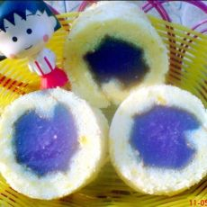 紫薯果冻蛋糕卷