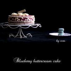 蓝莓奶油蛋糕的做法