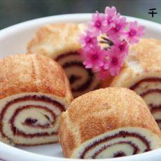 迷你蓝莓蛋糕卷