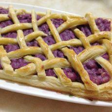 酥皮紫薯派的做法