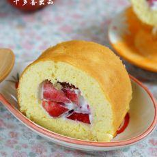 桃子海绵蛋糕卷