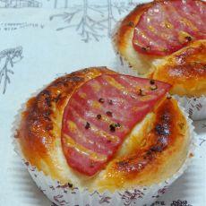 肉松火腿面包