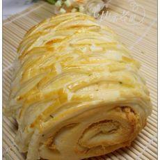 酥皮肉松面包卷