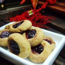 蓝莓酱饼干的做法