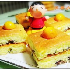 酸奶蜜豆海绵蛋糕