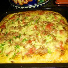 金枪鱼方形披萨