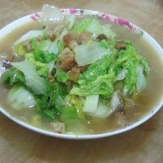 白菜炒肉片