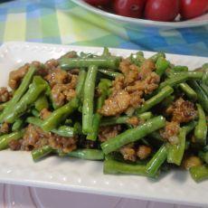 长豆角炒肉末