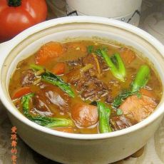 羊肉胡萝卜砂锅煲