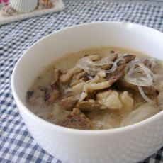 葱爆羊肉粉丝汤