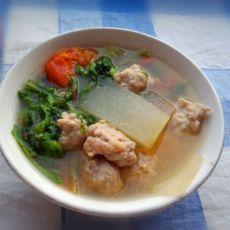 羊肉丸子三鲜汤的做法