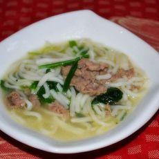 羊肉菠菜热汤面