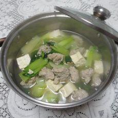 翡翠白玉肉丸汤