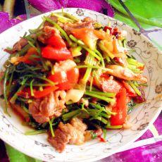 毛芹菜炒羊肉