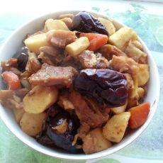 红枣山药焖羊肉