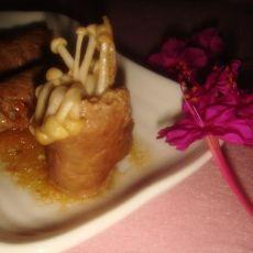 牛肉金针菇卷
