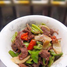 子姜炒牛肉的做法