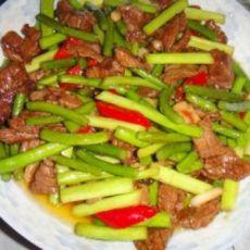 蒜苔牛肉的做法