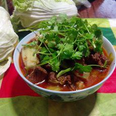 青菜烧牛肉的做法