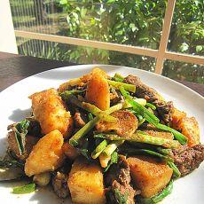 回锅酱土豆牛肉的做法