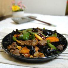 干锅炒牛肉的做法
