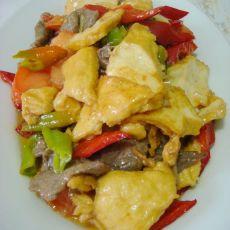 辣炒牛肉炸豆腐的做法