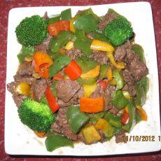 牛肉炒菜椒的做法