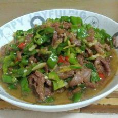 尖椒牛肉的做法