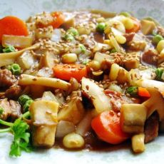 双菇牛肉咖喱
