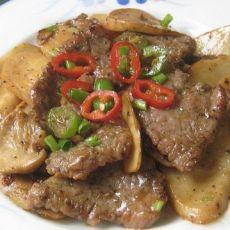 黑胡椒牛肉炒杏鲍菇
