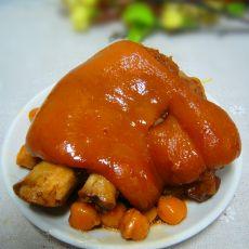 猪蹄炖鹰嘴豆的做法