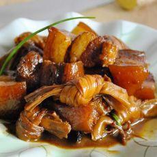 腐竹结烧肉