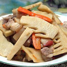 五花肉炒鲜笋