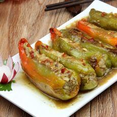 尖椒酿肉的做法