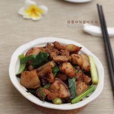蒜蓉拌饭酱炒花肉