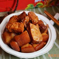 五香豆干烧五花肉