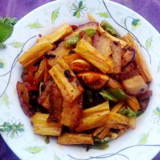 豉香腐竹回锅肉